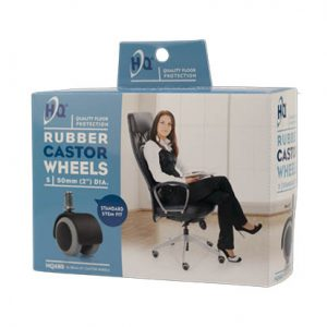 HQ Rubber Castor Wheels